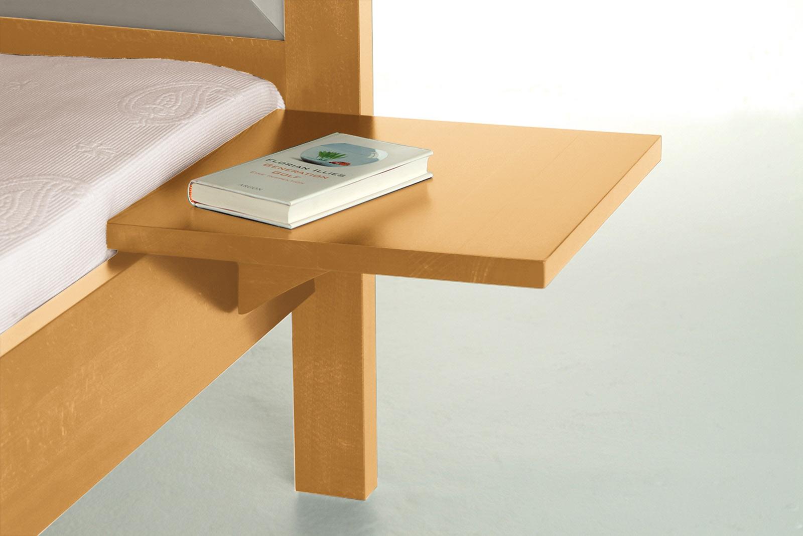 nachttisch zum einh ngen am bett massivholz 40 x 40 cm. Black Bedroom Furniture Sets. Home Design Ideas