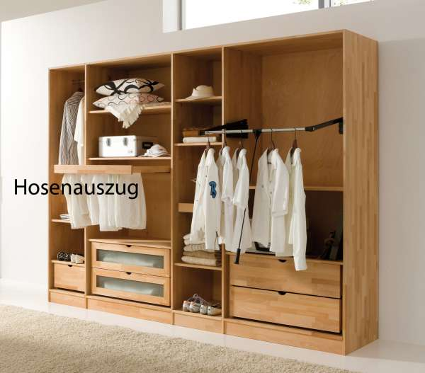 Hosenauszug für Kleiderschrank aus massivem Buchenholz - PureNature