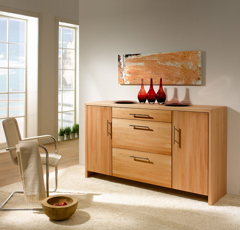 anrichte sideboard buche massiv valencia f r esszimmer flur purenature. Black Bedroom Furniture Sets. Home Design Ideas